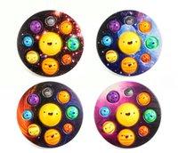New Design Colorful Planet Autism Stress Relief Toy Push Bubbles Fidget Sensory Toy For Kids Adults