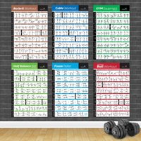 Paintings Bodybuilding Gym Sport Fitness Dumbbell Poster Kettlebell Workout Exercise Training Chart Art Wall Picture Print Home Decor
