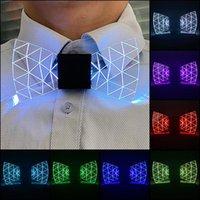 LED LED LED Acrílico Corbata Iluminación para hombres Disfraz Luminoso DJ Dance Decoración de fiesta Decoración de la fiesta Regalo