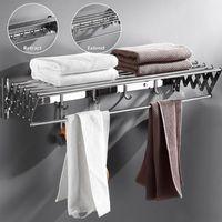 Asciugamani acciastrini in acciaio inox Pieghevole Pieghevole Pieghevole Pendio Ripianto Parete Asciugatura per bagno Bagno