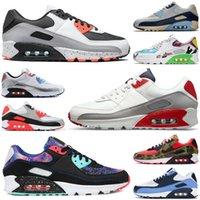 2020 new arrival 90 90s men women shoes triple black white Light Bone Photo Blue outdoor mens womens trainers sports sneakers size 36-45