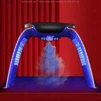 Máquina de belleza de la cara de la terapia de la luz LED colorida LED con la máscara de cuello facial LED con microcorriente para el dispositivo de blanqueamiento de la piel DHL Envío libre