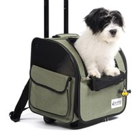 Dog Car Seat Covers Pet Stroller Foldable Rolling Luggage Backpack Travel Cage Trolley For Dogs Cats Cat Wheel Carrier