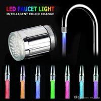 LED Water Kraanstroom Licht 7 Kleuren Veranderende Glow Water LED Lichte Douche Verander Kleur Licht voor Keuken Badkamer Epacket