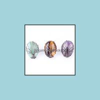 Jewelryvintage Tree Of Life Gemstone Rings Copper Opal Rose Quartz Natrual Stone Winding Handmade Adjustable Band Finger Ring Fashion Jewelr