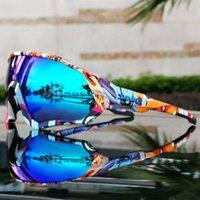 Occhiali da ciclismo colorati Uomini Donne Outdoor UV400 Sport Sport Escursionismo Bike Sumer Occhiali da sole Guida Guida Eyewaer 1 Lens0Loq.xxx
