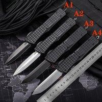 자동 칼 CNC T60161 핸들 VG10 강철 블레이드 Hight 품질 UTX70 UTX85 BM3300 A07 A162 BM330 캠핑 전술 포켓 접이식 빠른 열기 절삭 공구