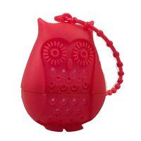Silicona búho herramientas de té colador bolsas lindas de grado alimenticio creativo creativo holgado infusor filtro difusor diversión accesorios DDA6099