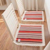 Летние дышащие квадратные подушки сиденья ручной работы столовой стул офисный хлопок сиденья удобный компьютер стул капюшона кружева