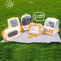 Pet Traveling Backpack Shoulder Space Single Bag Transparent Going Capsule Cat Bathing Injection Out Breathable Dog Chfkc