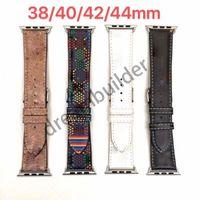 Mode-Armband-Riemen für Apple-Uhr-Band 42mm 38mm 40mm 44mm iWatch 1 2 3 4 5 Bänder Lederriemen Armband-Designer-Streifen