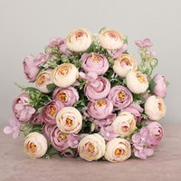 Multicolor Tea Roses vases for home decoration accessories fake daisy plastic flower wedding decorative Artificial flowers cheap