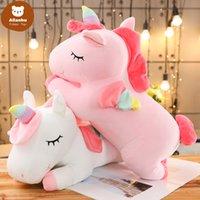 35cm Kawaii Giant Unicorn Plush Toy Soft Stuffed Unicorn Soft Dolls Animal Horse Toys For Children Girl Pillow Birthday Gifts qw