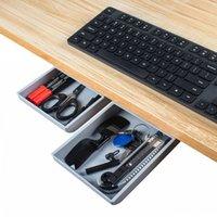 Masa Çekmece Adheisve veya Vidalar Masası Organizatör Kutusu Ofis Depolama Kalem Anahtar Bıçak Telefonu Makas Tutucu 1 Çift