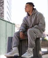Korku Hava Kazak Tanrısı Hoodie Büyük Boy Marka Hop Hood Gri Streetwear Çift Kalça Süveter Erkekler Kadınlar Kazak Collab Hoodie Eeilo