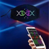 Fast Shipping Fashion new party atmosphere app Bluetooth digital luminous mask LED full color luminous Designer Masks