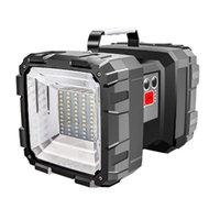 Портативный светодиодный фонарь портативной двойной головки USB аккумуляторный прожектор аварийного горелки для похода кемпинга