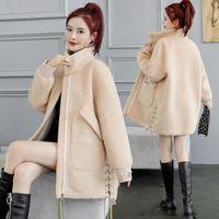 2021 Plus Größe Lammwolle Neue Frauen Herbst Wintermantel Weibliche Mode Wolljacke Elegante Mantel Lady Coats B Gkev