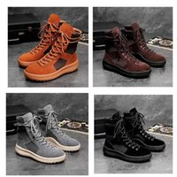 2021 hot Brand high boots Men and Women Fashion Shoes Martin Boots Best Quality Fear of God Top Military Sneakers Hight Army Boots