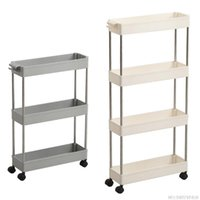 Hooks & Rails 3/4 Layer Kitchen Crack Storage Rack Movable Pulley Floor-standing Shelf With Space Saving Jy9 21 Dropship