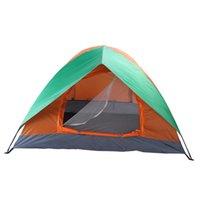 2 pessoa dupla camada acampando cúpula tenda com um vestíbulo para caminhadas