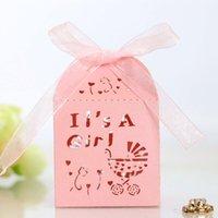 10pcs baby shout amour coeur coeur laser coupé chariot de bonbons boîte cadeau boîte mariage drageur baptême communion décor de chocolat
