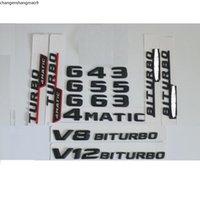 3D Matt Black Trunk Letters Badge Emblem Emblems Badges Sticker for Mercedes Benz G43 G55 G63 G65 V8 V12 BITURBO AMG 4MATIC