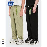 Инфляционные мужские повседневные прямые брюки весна Harajuku костюм брюки с орнаментом уличные мужские мешковатые брюки плюс размер 3588с21