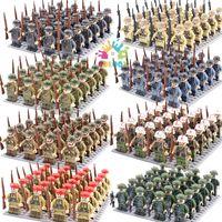 Coloqi Spielzeug WW2 Mini Military Figuren Bausteine Set Soldaten Waffen Waffen Army Bricks Kinder Pädagogisch Für Jungen X0127