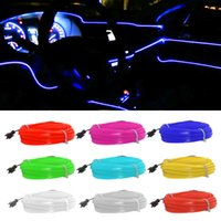 1M 3M 5M Flexible Car Interior Lighting LED Strip Garland Wire Rope Tube Line Neon Light With Cigarette Drive controller