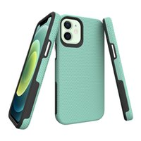 Fashion Triangle Texture Design Shockproof Cell Phone Cases for iPhone 13 Pro Max 12 11 X Xs Xr 8 7 6 plus Protect Case Dual Materials Hard PC+Soft TPU with Retail Package
