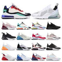 air max 270  koşu ayakkabıları erkekler için üçlü siyah beyaz pembe Şarap bayan spor sneakers trainer Nefes vintage moda boyutu 36-44