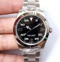 탑 럭셔리 남성 시계 Exp Air King 시리즈 116900 및 216570 블랙 40mm 다이얼 자동 기계 운동 316 강철 브랜드 디자이너 시계