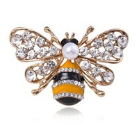 공장 오일 꿀벌 새로운 다이아몬드 지르콘 동물 만화 금속 진주 브로치 핀 크리스마스