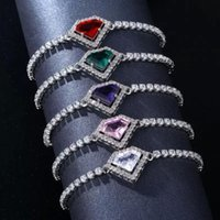 Charm Bracelets Heart Adjustable Tennis For Women Colorful Crystal Bracelet Jewelry Christmas Gift Wedding Accessories