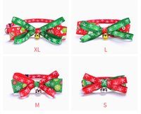 Bowknot Bell Christmas Series Pets Collars Cat Collar Dog Pet Products plus size DHL FREE