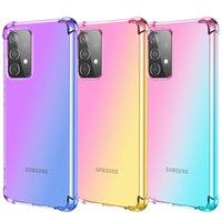 Gradiente Colorido a prueba de golpes transparente TPU transparente TPU Casos para Samsung A01 A02S A11 A21 A21S A41 A31 A51 A71 A81 A91 A12 A32 A42 A52 A72 A30 A50 A50