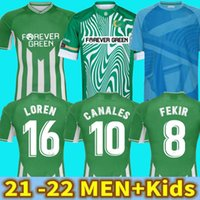 21 22 Real Betis Soccer Jersey Soccer Jersey Joaquin Loren Boudebouz Bartra Home Away Lanales تذكارية الطبعة Fekir 2021 2022 Man Kids Kits كرة القدم قمصان