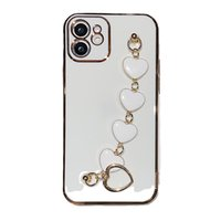 Wristband Mobile Phone Cases 13 Pro Max Protective Cover Case For Iphone 11 12 Mini Promax X Xs Xr 6 7 8 Plus Laser Engraving Electroplating Wrist Love Chain