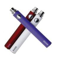 EVOD Preheat VV Vaporizer Battery 1100 900 650mAh Variable Voltage E Cigarette 510 Thread Vape Pen E-Cig eGo-T MT3 CE4 CE5