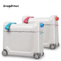 Valigie Valigia per bambini Valigia per bambini Viaggi Baby Ride Aircraft Multi-funzione Aggiornamento bagaglio Borsa per bambini Bed Bed Box Creative Valise