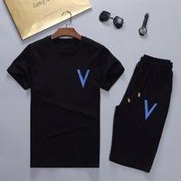 Yaz Erkek Tasarımcılar Eşofmanlar Koşu Takım Elbise Erkekler Eşofman Kazak Koşu Kazak Adam Kısa Kollu Jogger Pantolon Moda Ter Track M-3XL Suits