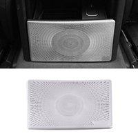 Pour Mercedes-Benz GLS X167 2020 2021 Haut-parleur de voiture Cover Porte en acier inoxydable Porte haut-parleur Son cadre Sticker Agrandir Accessoires d'intérieur
