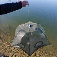 Alta qualità Lazytrap rete da pesca 6 fori piegati esagono da pesca netta netta di pesca catcher reti strumenti # 1