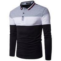 NOUVEAU Mode Homme Polos à manches longues Casual Polo Hommes Vêtements Trend Décoration Hommes Tenis Polos Camisa Polo Shirts