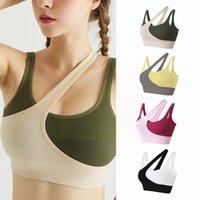 Camisoles & Tanks Women Sports Bra Sexy Yoga Crop Top Underwear Bras Sportswear Push Girls Fitness Shirt Athletic Sie Vest Up One G0f1