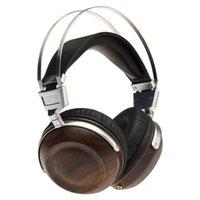 C1 모니터링 HIFI 헤드폰 50mm 동적 나무 이어폰 over-the -eear베이스 스테레오 스튜디오 오디오 금속 헤드셋 소음 취소