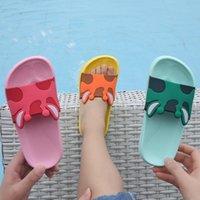 Slipper Cute Cartoon Kids Slippers Open Toe Boys Shoes Parent Child Soft Light Summer Beach Girls Baby Pantuflas