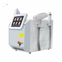 Taşınabilir 3 1 Çok Fonksiyonlu Güzellik Makinesi E-Işık IPL RF + ND YDG Lazer Epilasyon Cilt Gençleştirme Pigment Dövme Ekipmanları Kaldır