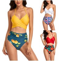 One-Piece Suits Women's Swimsuit Sexy Swimwear Bikinis 2021 Woman Bathing Suit Print Tankini Two Piece Swimsuits Top Shorts Bikini